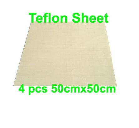 Free shipping Discount 4pcs 50cmx50cm Teflon Sheet for Heat Transfer Heat Press Teflon Film Sublimation teflon cover sheet 16 x16 transfer paper iron on heat