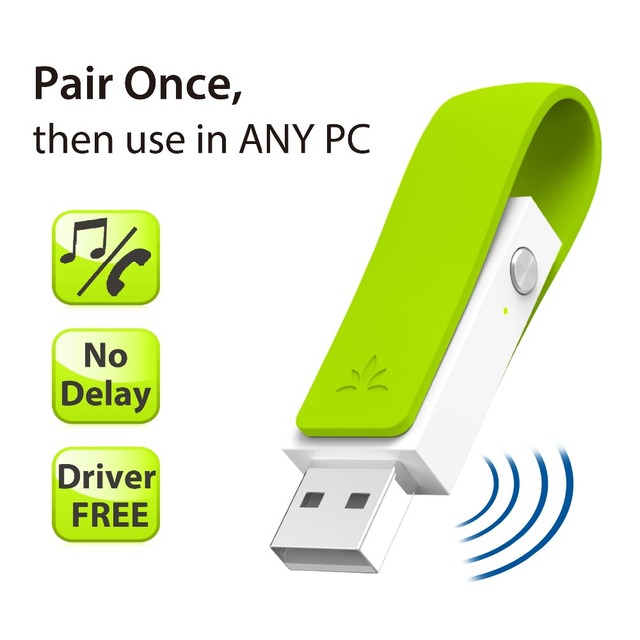 Avantree Baja Latencia Controlador Libre Plug & Play Bluetooth Transmisor Adaptador de Audio USB para TODOS LOS PC con Auriculares inalámbricos Altavoces