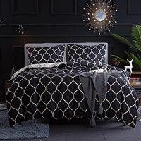 أسود هندسي طقم سرير البوليستر الرملي حاف مجموعة غطاء الملك/الملكة حجم بياضات سرير المفارش صافي شبكة نمط المفارش