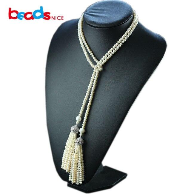 Beadsnice collier de perles d'eau douce naturelle 925 pendentif en argent sterling colliers pour femmes design unique pour elle ID29796