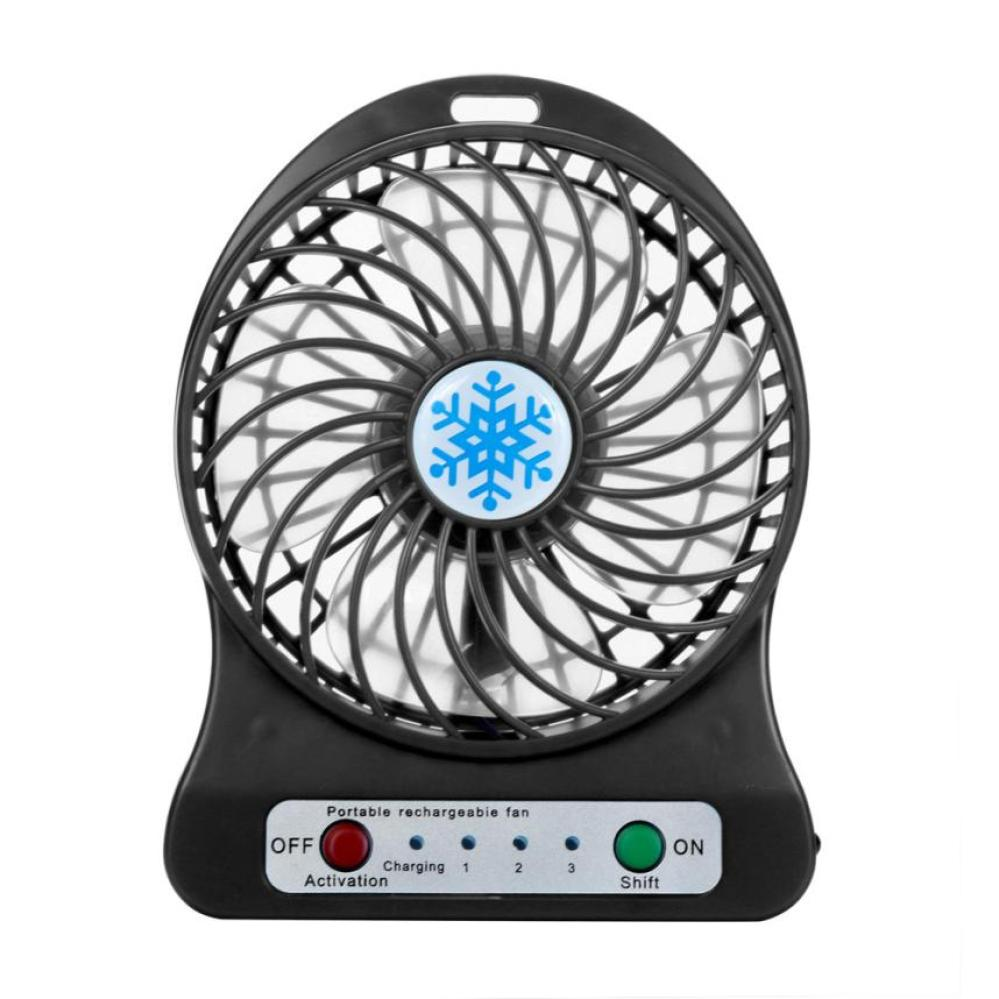 Portable Mini USB Fan LED Light Air Cooler Small Desk 18650 Battery Fan for PC Laptop Cooling Fan ventilador Gift