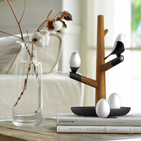 LED Night Table Desk Bedroom Light Lamp Wireless Lamps Lucky Bird Magpie Chinese Style USB Rechargeable Motion Sensor L3397
