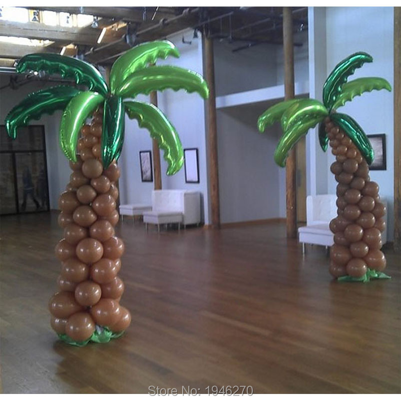 Palm tree Wedding decorations Event Party supplies full Coconut trees balloon column decorations 2 set lot