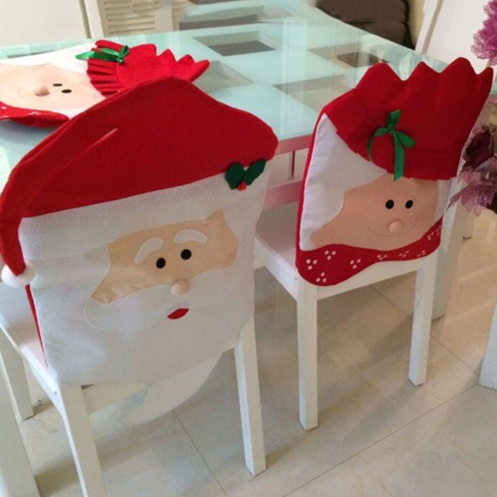 Sweet New Xmas Santa Claus Christmas Dining Dinner Table Chair Back Cover DecorChina