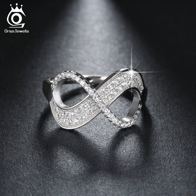Orsa jewels popular girls 39 finger infinity ring aaa for Infinity ring jewelry store