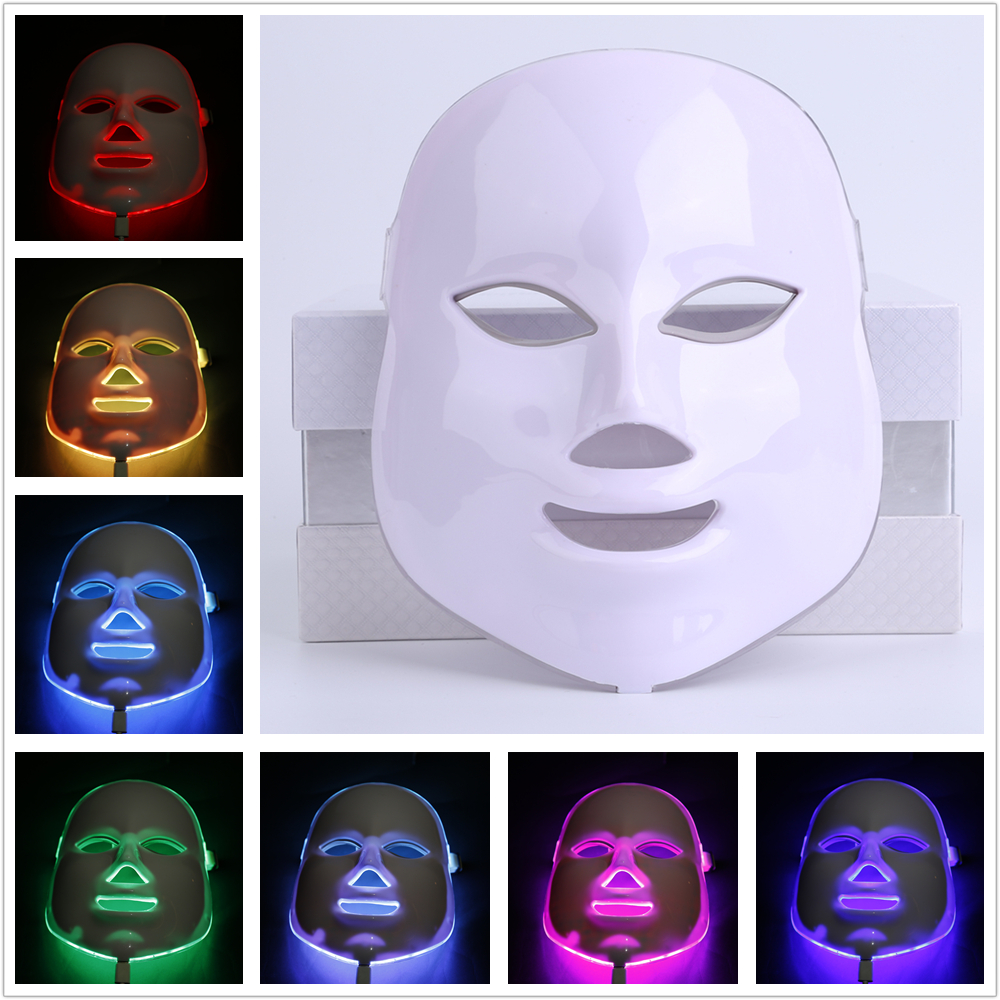 7Colors LED Facial Mask Home LED Photodynamic Beauty Face Mask Use Beauty Instrument Anti acne Skin Rejuvenation Repair Skin hot sale safety home use electric potential therapeutic instrument beauty