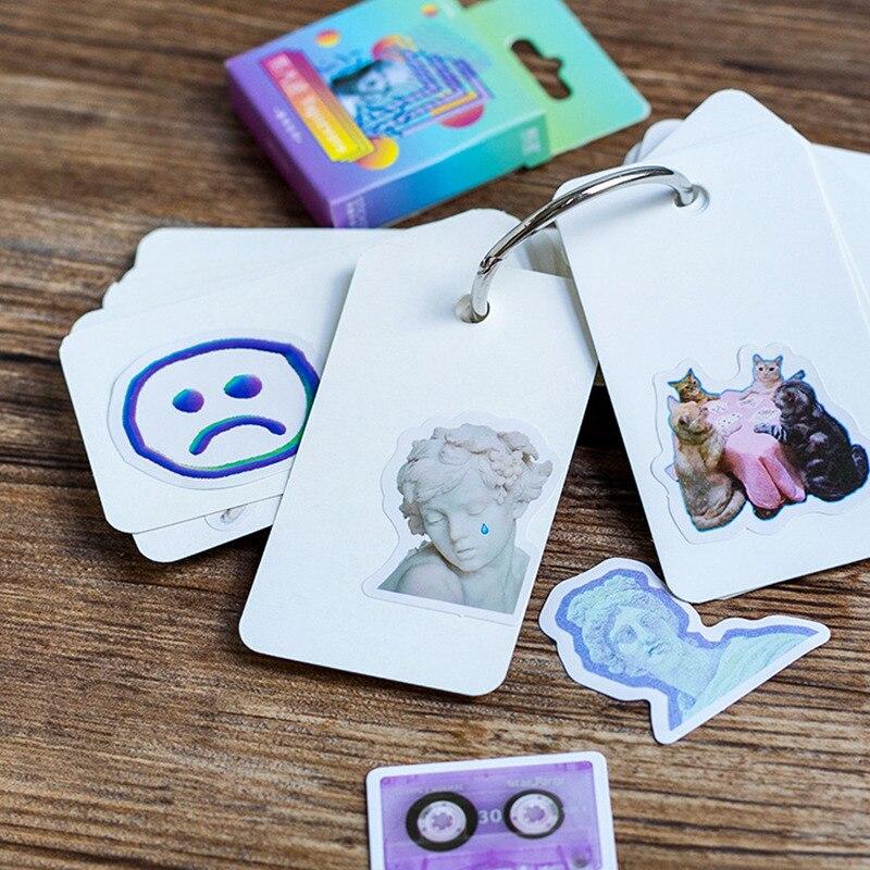 Купить с кэшбэком Vaporwave Art Style Einstein Newton Stickers For Laptop Phone Luggage Car Guitar TV Box Kid Decal Vaporwave Label Stickers