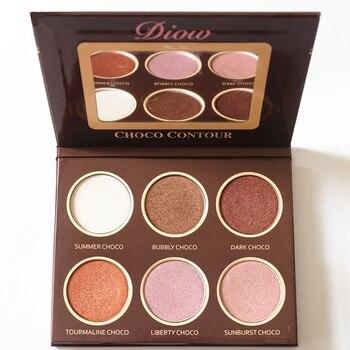 Brand Diow Chocolate illuminator Glow Kit Shimmer Bronzer and Highlighter Contour Eyeshadow Palette Maquiagem Beauty Cosmetics kylie cosmetics burgundy palette