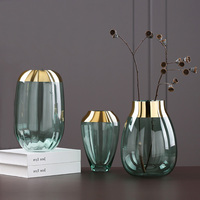 Modern Simple Light Luxury Glass Vase Ornaments Home Decorations Hydroponics Flower Vase for Wedding Decor Showcase Bedroom