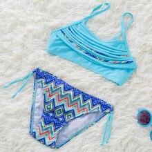 f90871be9802 Menina do Biquini 2018 Duas Peças de Bebê Meninas Maiôs Menina Swimsuit  Crianças Bikini Define Crianças