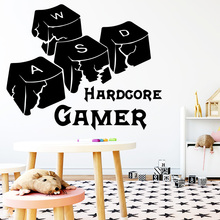 Funny Gamer Vinyl Wall Stickers Decor For Game Room Bedroom Decoration Removable Art wallstickers Decals Murals