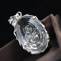 Fortune Pavilion Silver Sterling Silver Pendant Maitreya Smile To Face The Silver Medal Thai Silver Jewelry Restoring Ancient Wa