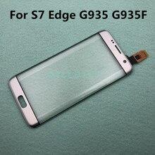 S7Edge شاشة تعمل باللمس TP كابل لسامسونج غالاكسي S7 حافة G935 G935F G935FD اللمس الاستشعار زجاج عدسة لوحة استبدال