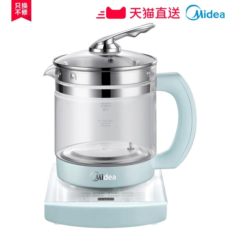 Midea электрического чайника Стекло сохранения здоровья горшок автоматическое сохранение тепла медицина горшок кипения чайник