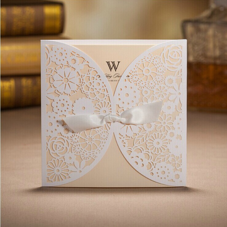 Creative Wedding Outfit Light Pink Wedding Invitation Cards with – Paper Invitation Cards