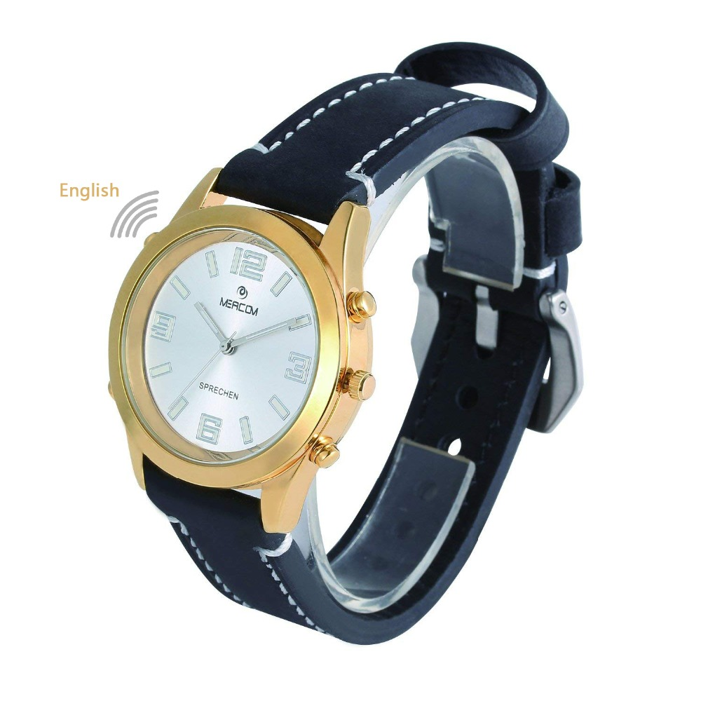 лучшая цена Talking Wristwatch with time announcement, Luminous function talking clock, Speaking Watch for Aged / Blind / Visually Impaired