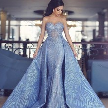 dreaming truing Stylish Sky Blue Mermaid Prom Dresses