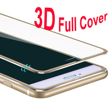 2017 Aluminum alloy Tempered glass For iphone 6 cases 6S 6 7 Plus 5 5S SE Full screen Protect coverage cover for iPhone 7 case