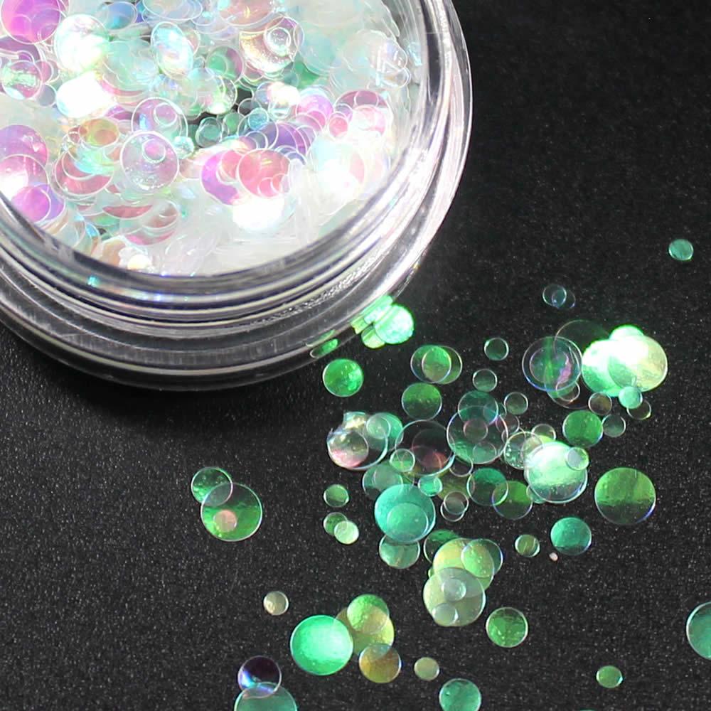 1 коробка блестящие круглые ультратонкие блестки Красочные Блестки для дизайна ногтей УФ гель 3D декоративный Маникюр DIY аксессуары NR234 - Цвет: Темный хаки