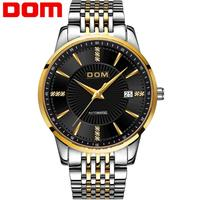 Dom Men Watch Top Brand Luxury Automatic Stainless Steel Watch Men Japanese Movement Mechanical Gold Business Watch Relogio M 79