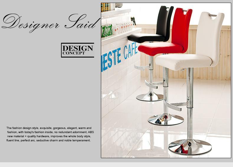 Southeast Asia Bar Stool Trendy Restaurant chair black white red green color stool retail wholesale free shipping