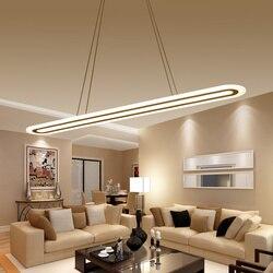 Led nowoczesne lampy wiszące oprawy oświetlenia domu akrylowe lampa wisząca w jadalni na ternie obiektu Led nabłyszczania zawieszenie oprawa