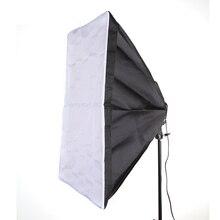"""50×70 cm 20×28 """"Softbox Estúdio de Fotografia Para 4 em 1 Soquete E27 Lâmpada de Luz"""