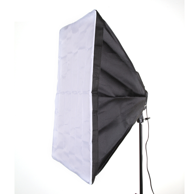 "50 x 70cm 20x28"" Softbox Studio Photography For 4 in 1 Socket E27 Light Lamp Bulb"
