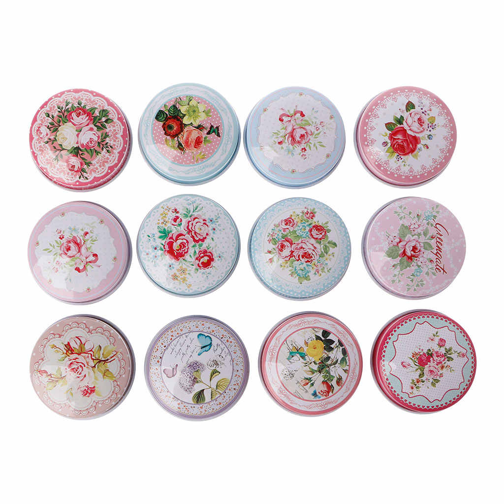 Europe type circular MiNi iron box candy storage box wedding Jewelry Pill Cases tin box cable organizer container