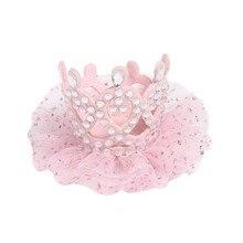 цены Girls Hair Clips Cute Crown Design Children Adorable Baby Hairpin Princess Hair Accessories Rhinestone Hair Pin Set