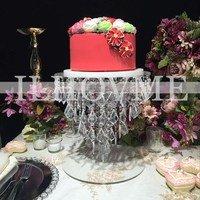 Круглый акриловый кристалл свадебный торт стенд/цветок стенд Свадебные/событие и партия столб украшение стола Свадьба центральным