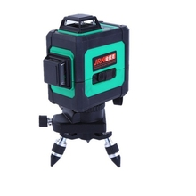 Green Laser Level 3D 12 Lines Green Beam Powerful Laser Line Self-Leveling 360 4 Horizontal And 8 Vertical Cross