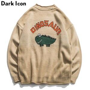 Dinosaur Lovely Sweater Men 2018 Winter Pullover Men's Sweat