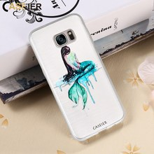 CASEIER 3D Emboss Soft Phone Case For Samsung Galaxy Note 8 Silicone Cases S6 S7 edge S8 Plus Fish Funda Capa