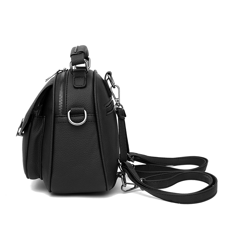 42ee5bc40986 Mini PU Leather Backpack Convertible Metal Buckle Single Shoulder Purse  Tiny Crossbody Bag Fashion Leisure Students Bagpack-in Backpacks from  Luggage   Bags ...