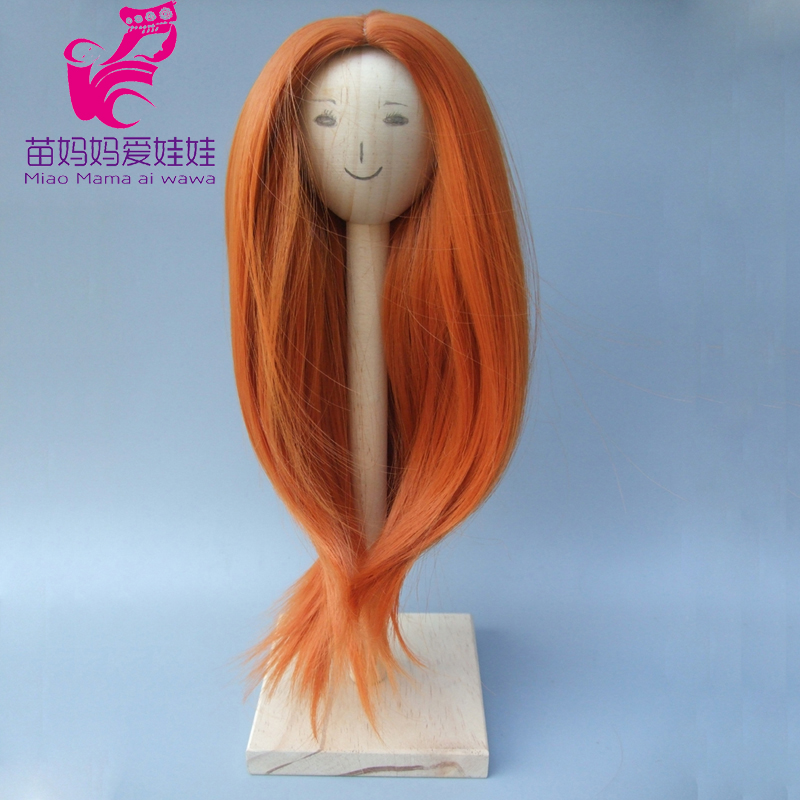 Natural Color Soft Straight Hair Wig for 1/3 1/4 1/6 BJD doll for Russian handmade DIY doll wigs