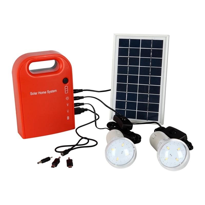 Outdoor Solar Panel Camping Light Home Lighting System Solar Lights 18650 battery Home Garden Security Light Lamp with led bulbs цены