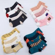 2 to 12years old kids Cartoon socks cute animals boys Breathable short Socks chi