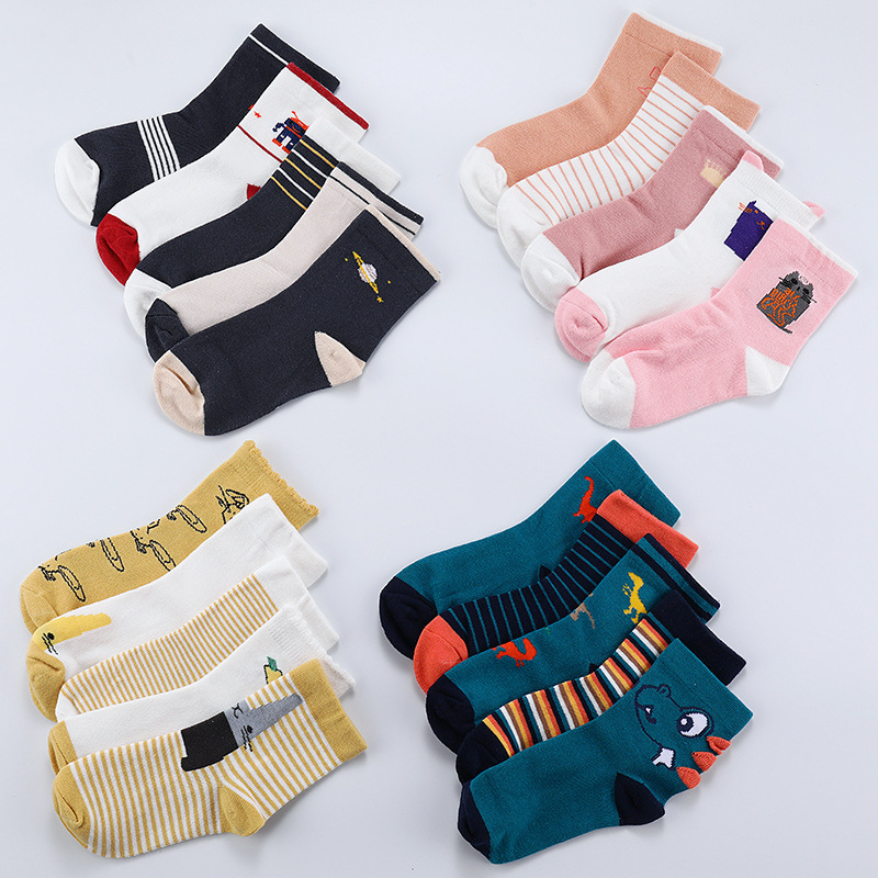 2 To 12years Old Kids Cartoon Socks Cute Animals Boys Breathable Short Socks Children Baby Stuff Girls Cotton Socks