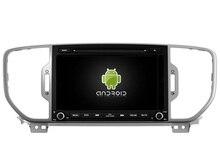 Android 6.0 octa core 2GB RAM car dvd player for Kia Sportage 2016 year GPS navigation wifi 3g dvr radio bluetooth tape recorder