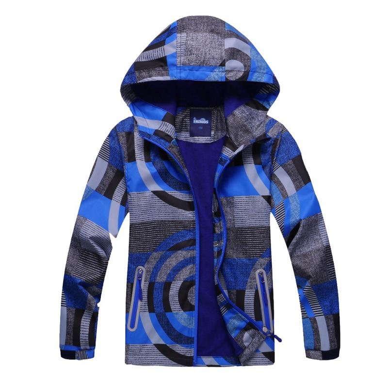 2018 весенние топы Детская куртка Осенняя Брендовая детская одежда для девочек с принтом верхняя одежда с капюшоном детские ветровки