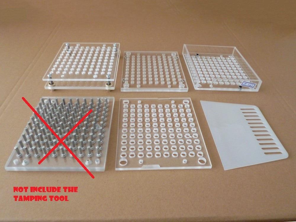 100 Holes Manual Capsule Filling Machine Pharmaceutical Capsule Maker Filler Size 00#/0#/1#/2#/3#/4#/5# Acrylic material