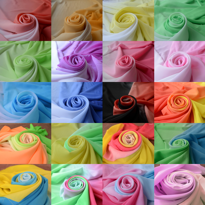 Koshibo gradual transition stage performance cloth fabric sleeves and costume Han Chinese clothing fabric 20 colors