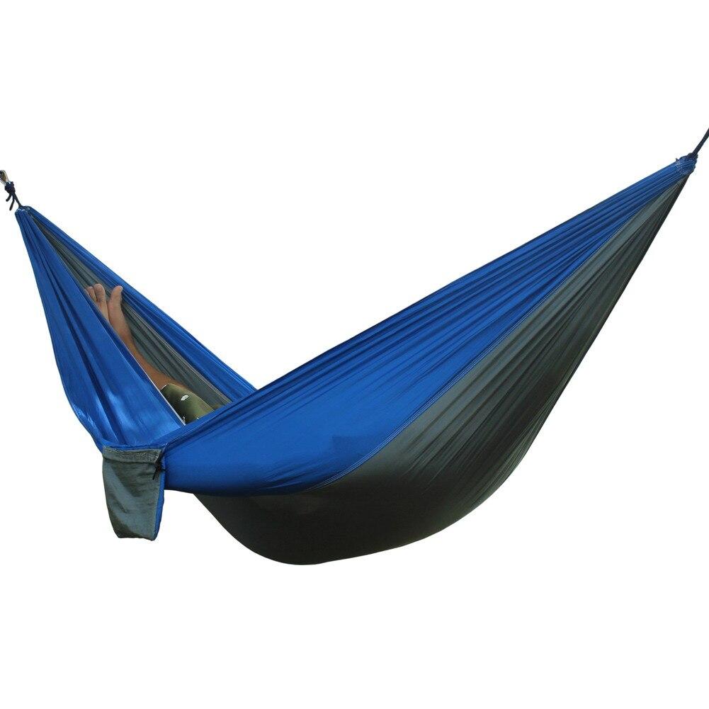 Двойные люди Портативный гамак кемпинг выживания сад, охоты путешествий двойной человека Портативный парашют гамаки для 1-2 человек