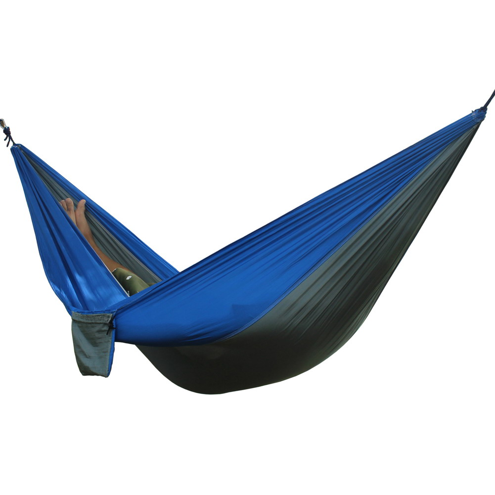Double People Portable Hammock Camping Survival Garden Hunting Travel Double Person Portable Parachute Hammocks For 1-2 Person