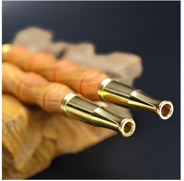 US $14 9 |Smoking Rosewood / Silkwood / Cliff cedar Smoking Pipe bamboo  shape Straight Type Tobacco Pipe Filter Wood Cigarette holder-in Tobacco  Pipes