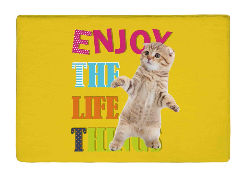 Floor Mat Inspirational cute cat yellow Print Non slip Rugs Carpets alfombra For font b Indoor