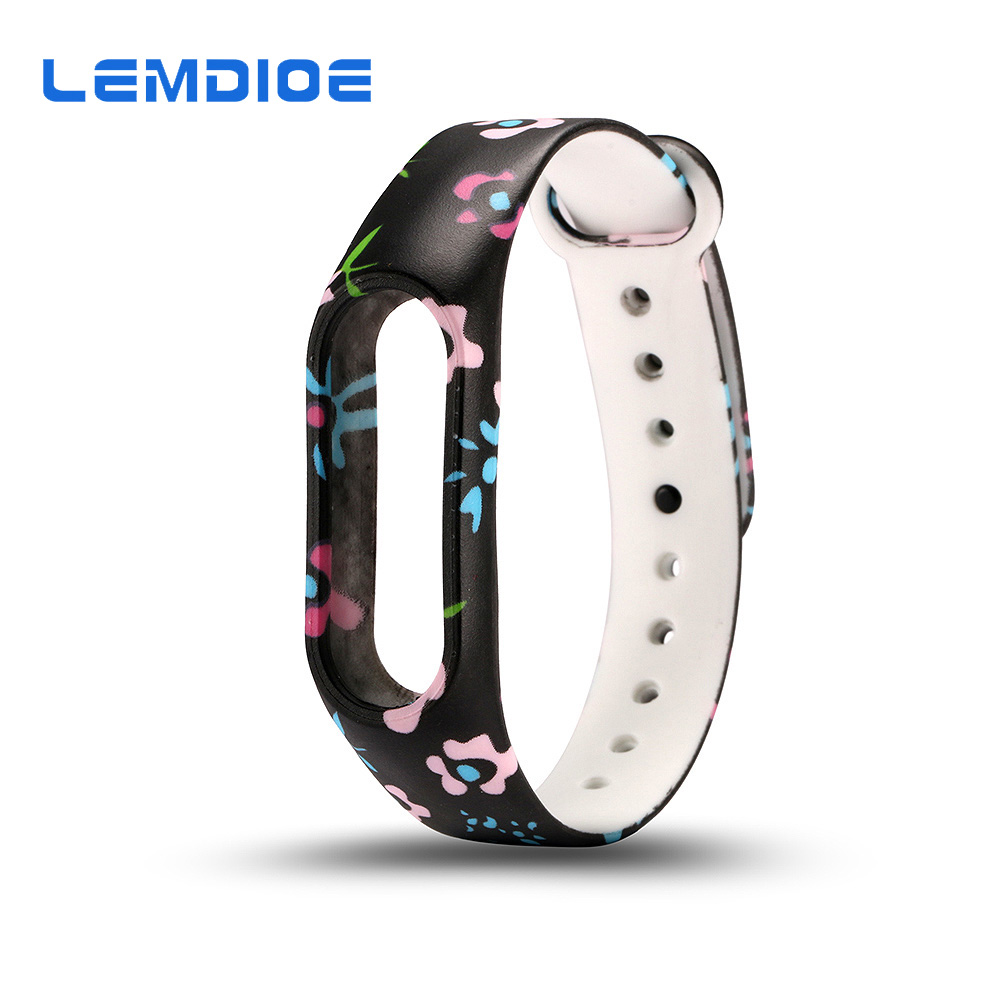 LEMDIOE Wristband For Mi Band 2 Colorful Wrist band for Xiaomi Mi band 2 For Smart watch Bracelet for Xiaomi band 2 billy's band