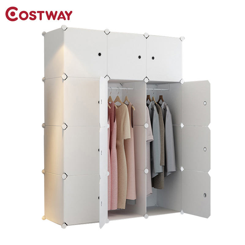 Plastic Portable Folding Wardrobe For Clothes Assembled Closet Storage Cabinet Organizer Bedroom Home Furniture Armario Ropero