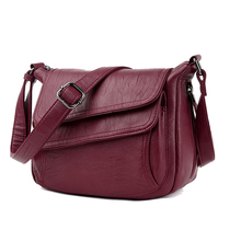 2019 Red Luxury Autumn Bag Leather Handbags Women B